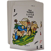 SOLD Vintage 1965 Disney Three Little Pigs Card Game