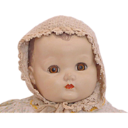 REDUCED Vintage Baby Doll Knit Bonnet