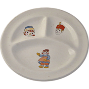 Rare 1941 Raggedy Ann and Andy Baby Dish Circa 1940's