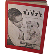 "REDUCED Rare 1966 Black Americana Book ""My Dog Rinty"""
