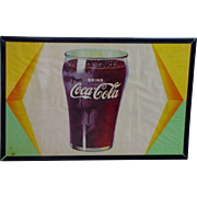 SOLD Vintage Coke Cola Sign Framed Circa 1940's