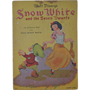 SOLD Vintage Disney Snow White And Seven Dwarfs Book 1938