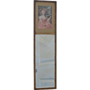 SOLD Antique Mirror with Lithograph