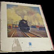 Vintage Train Book Circa 1930's