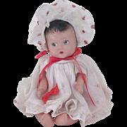 Vintage 1940's Unmarked Composition Doll Original