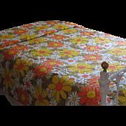 Vintage 1970's Psychedelic Twin Bedspread