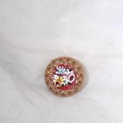 REDUCED Vintage Italian Byzantine Micro Mosaic Multicolored Brooch