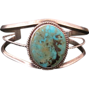 REDUCED Vintage Custom Navajo Sterling Silver and Turquoise Bracelet