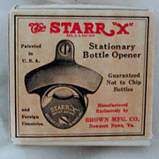 "REDUCED Vintage Circa 1950's ""Barqs"" Stationary Bottle Opener Original Box"