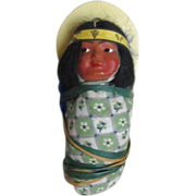 REDUCED Vintage 1950's  Skookum Indian Papoose Doll