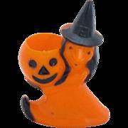 REDUCED Vintage Rosbro Plastic Halloween Candy Holder