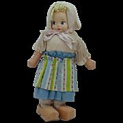 REDUCED Vintage Unmarked Dutch Cloth Doll Original