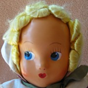 REDUCED Vintage Cloth Doll with Handpainted Face Marked