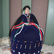 REDUCED Large Handmade, Handpainted, And Hand Beaded Navajo Doll