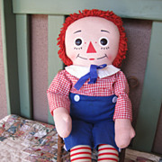 REDUCED Vintage 1960's 20 inch Knickerbocker Raggedy Andy