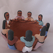 REDUCED Authentic Handmade Hand Painted Artist Signed Navajo Clay Friendship Pot