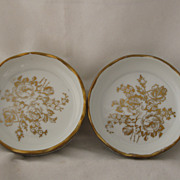 REDUCED Vintage Set Of Hand Painted French Porcelain Nut Cups Beautiful!