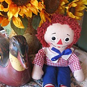 REDUCED Vintage Knickerbocker 15 inch Raggedy Andy All Original  TOO CUTE!