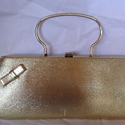 "REDUCED Wonderful Vintage ""Berne"" Gold Purse  /Evening Bag Very 1960's"
