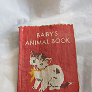 REDUCED Antique Linen Child's Book Great Graphics Excellent Condition