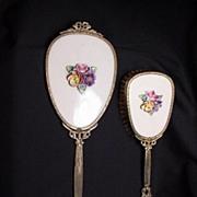 Hand Mirror and Brush