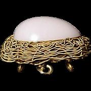 Opaline Glass Egg Casket