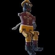 Black Americana Wooded Toy Dancer/Walker