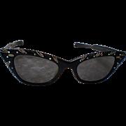 SALE Vintage Women's Shuron Cat Eye Style Sunglasses-Art Deco Fashion-1940-1950's