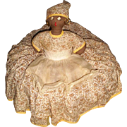 REDUCED Black Americana Toaster Doll Cover Full Skirt-1950's