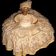 REDUCED Black Americana Toaster Doll Cover Full Skirt-1950's