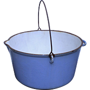 Cast Iron Enameled Apple Butter Pot or Syrup Making Kettle-Large Size-20 Qt.-1800's