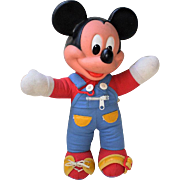 Vintage Mickey Mouse Doll-Learning Toy for Children-1970's