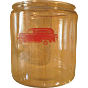 Vintage Glass Candy Store Jar -Gordon's Candy-1940's