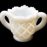 Vintage Milk Glass Toothpick Holder Double Handled