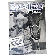 Rocky Lane Western #27 1952 Original Comic Book Art Framed