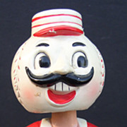 "SOLD Cincinnati Reds 1960's Nodder Bobble Head ""Ball"" Head Nice!"