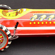 Race Car 1950's Marx Toys Tin Windup Indy Style