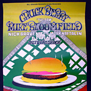 1969 Chuck Berry Fillmore Rock 'n Roll Poster Signed by Artist