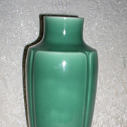 SALE 1928 Rookwood Pottery Art Deco Large Green Vase