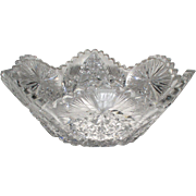 Stunning ABP or American Brilliant Period Cut Glass LRG Bowl