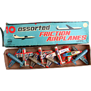 Airplanes 1950's Set of Friction Toys by Marx/Linemar Mint in Box
