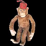 1920s - 1930s Steiff, Schuco or Bing Unusual & RARE Monkey w/Wind-Up Music Box