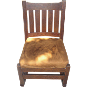 1915 LJG STICKLEY 821 Mission Oak-Sewing/Nursing Rocking Chair