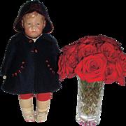 Early c. 1910 Kathe Kruse Wide Hip Doll Original Costume - A TREASURE!
