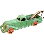 "Hubley Wrecker Truck 5-1/2"" long 1930's Pre-War Cast Iron Complete and ..."