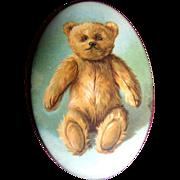 SOLD c. 1910 Early Teddy Bear Pocket Mirror