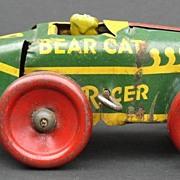 """1920's Tin Wind-up """"Bear Cat"""" Racer Car"""