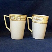 SALE 4 Hand Painted Nippon China Lemonade or Hot Chocolate Cups
