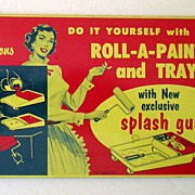 SALE Vintage Advertising Tin Splash Guard Colorful Graphics