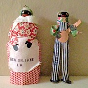 SALE Pair Hand Made Black Dolls Souvenirs Of New Orleans